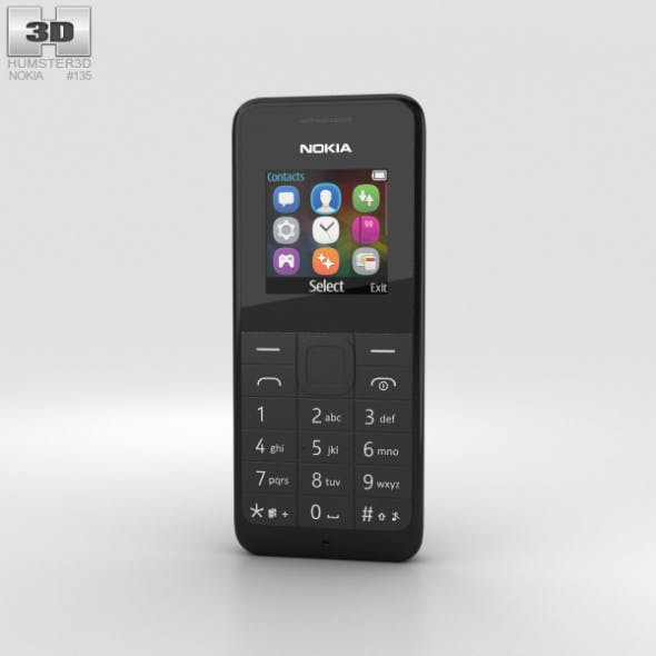 Nokia 105 Dual SIM Black - 3DOcean Item for Sale