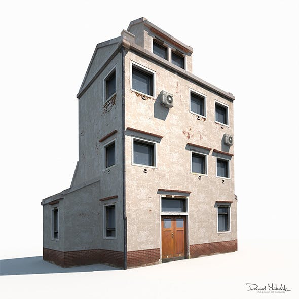 Old Building 186 Low Poly by Cerebrate | 3DOcean