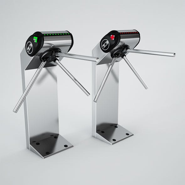 Turnstile PERCo-TTR-08A - 3DOcean Item for Sale