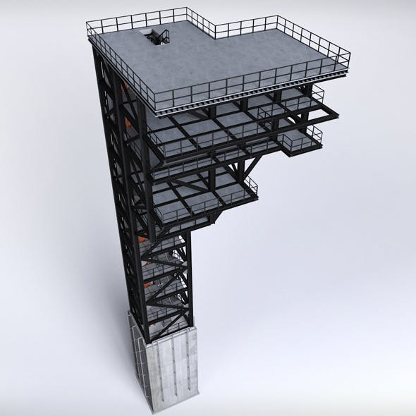 Rocket launch complex platform - 3DOcean Item for Sale