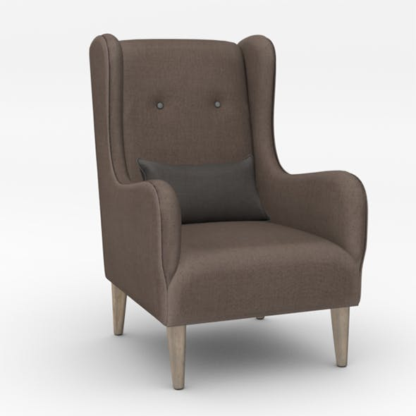 Upholstered Chair - 3DOcean Item for Sale