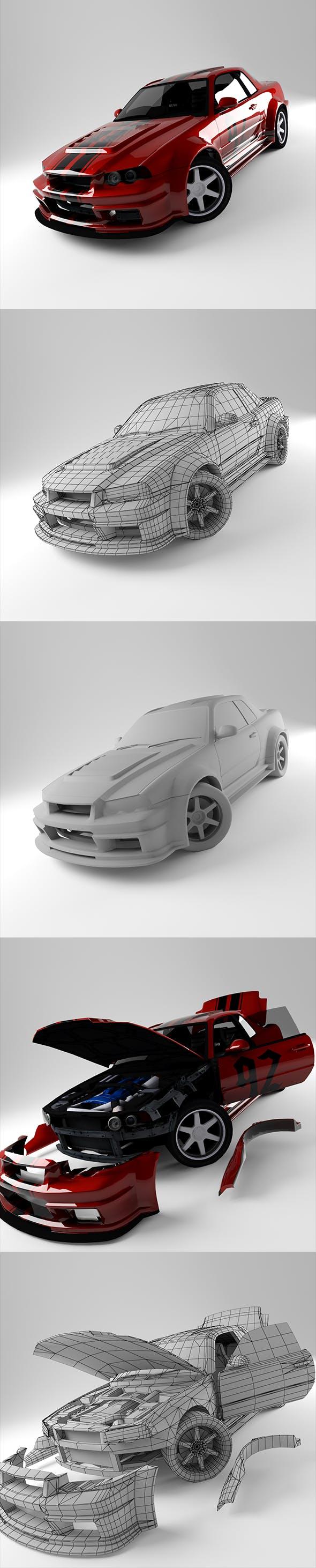 R34 Skyline - 3DOcean Item for Sale