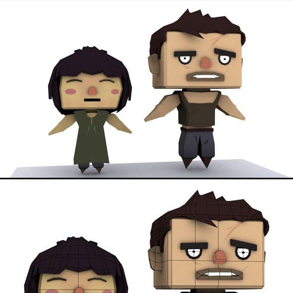 Cartoon Man & Woman Model