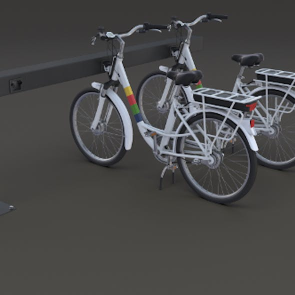 Electric City Bicycle and Station
