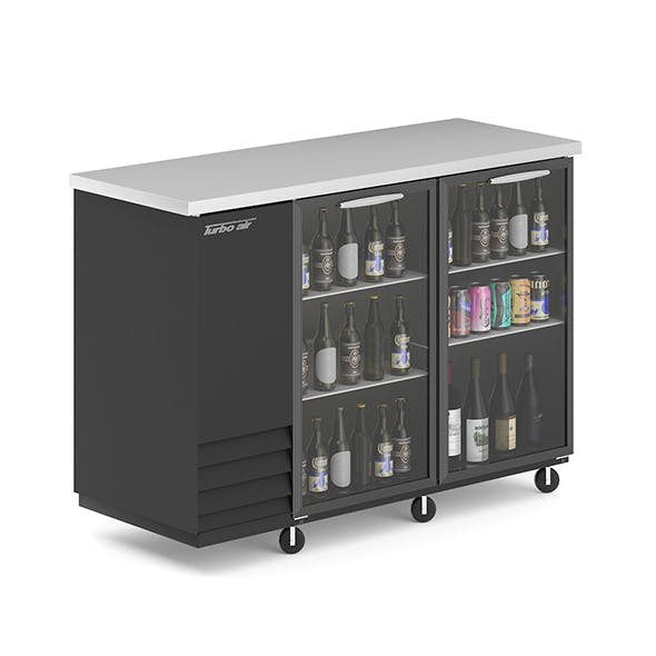 Fridge with Beer Bottles and Cans - 3DOcean Item for Sale