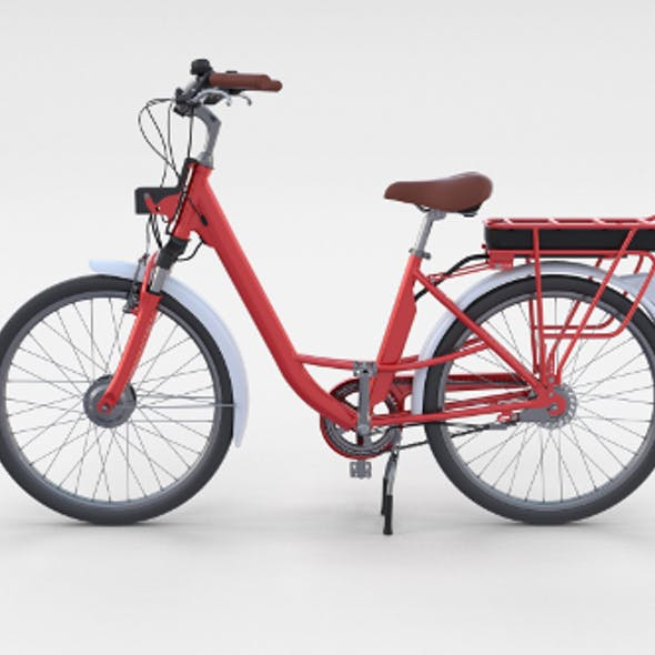 Electric City Bicycle Red