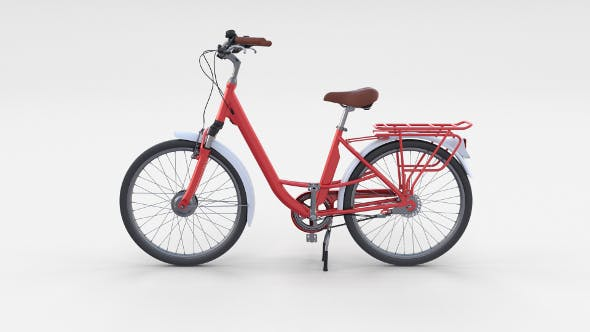 City Bicycle Red - 3DOcean Item for Sale