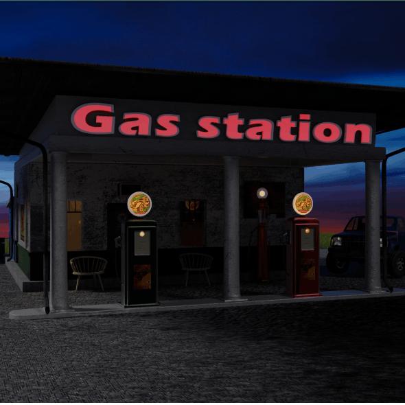Gas Station - 3DOcean Item for Sale