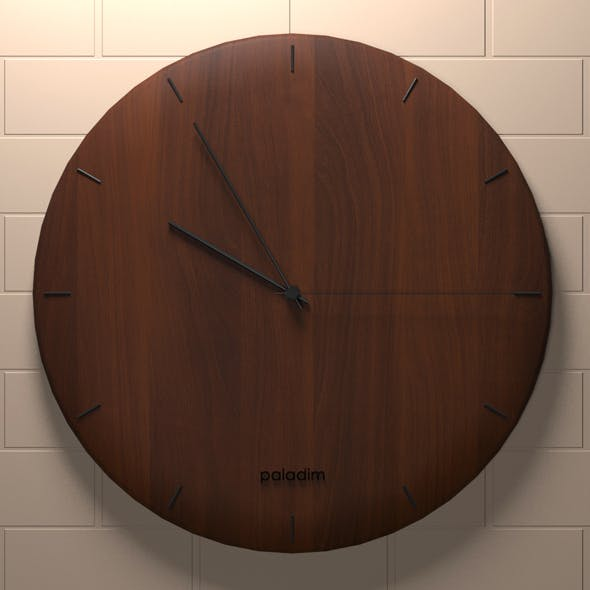 Wooden clock - 3DOcean Item for Sale