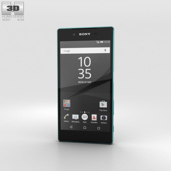 Sony Xperia Z5 Green - 3DOcean Item for Sale
