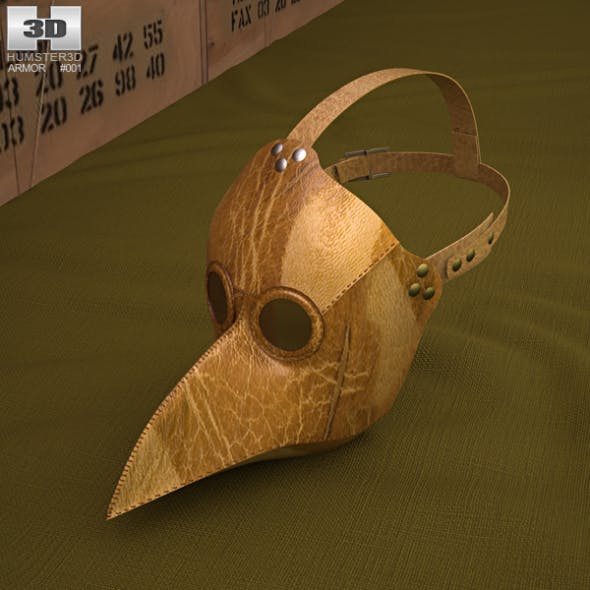 Black Plague Doctor Mask - 3DOcean Item for Sale