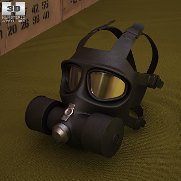 FG-1 Fire Mask - 3DOcean Item for Sale