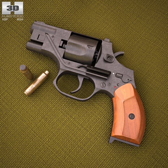 OTs-38 Stechkin silent revolver - 3DOcean Item for Sale