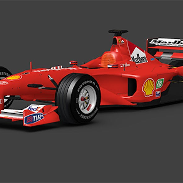 Ferrari F1 2000 -  low poly