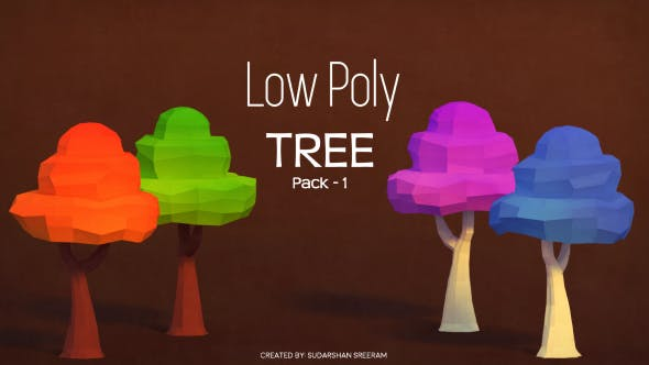 Low Poly Tree - Pack 1 - 3DOcean Item for Sale