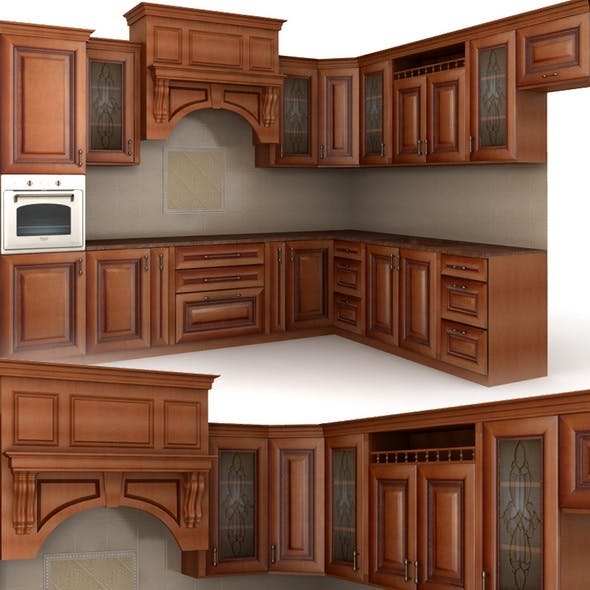 Classic cusine (kitchen furniture) - 3DOcean Item for Sale