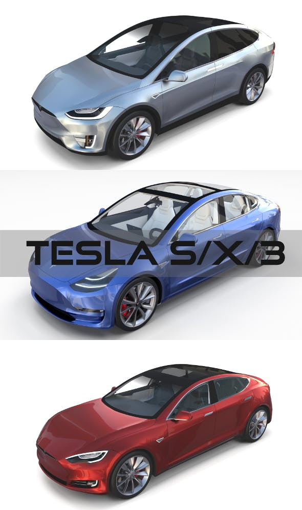 2017 Tesla S-X-3 Collection - 3DOcean Item for Sale