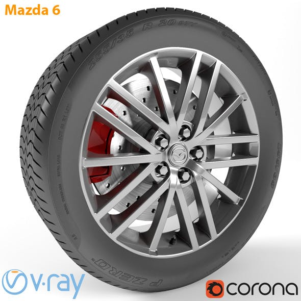 Mazda 6 Wheel - 3DOcean Item for Sale