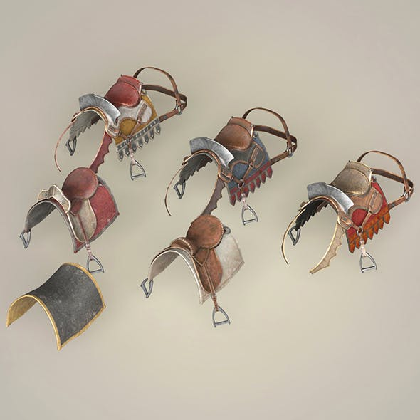 Game Ready Realistic Horse Saddle Collection