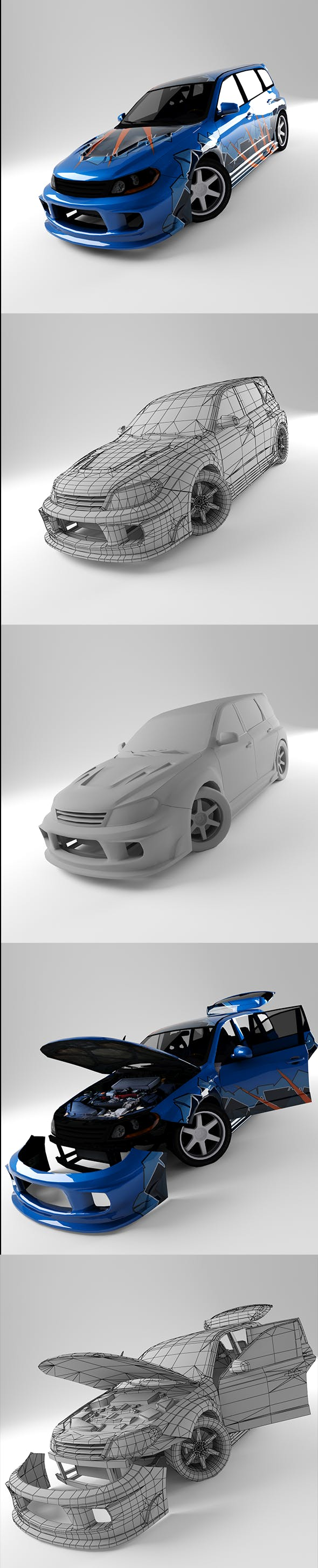 Subaru STI - 3DOcean Item for Sale