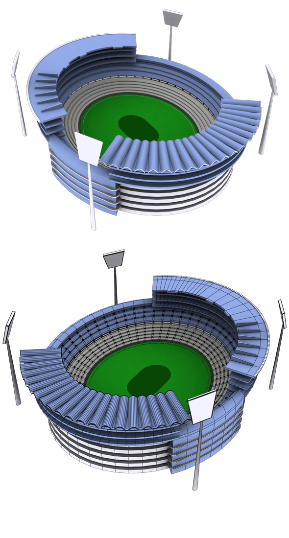 South Africa Stadium Icon - 3DOcean Item for Sale