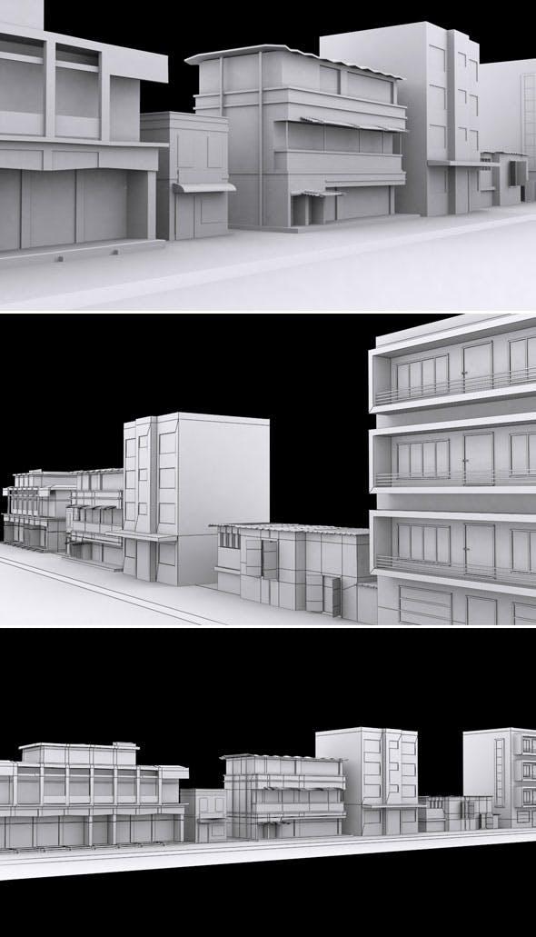 Vr Old City Model - 3DOcean Item for Sale