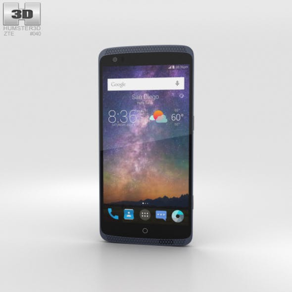 ZTE Axon Pro Phthalo Blue - 3DOcean Item for Sale