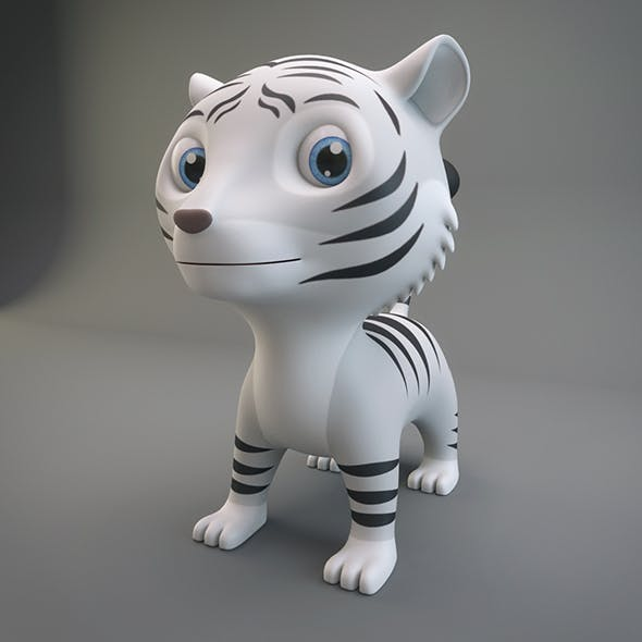 White Tiger - 3DOcean Item for Sale