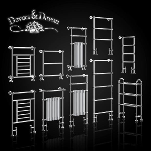 A set of heated towel rails Devon Devon