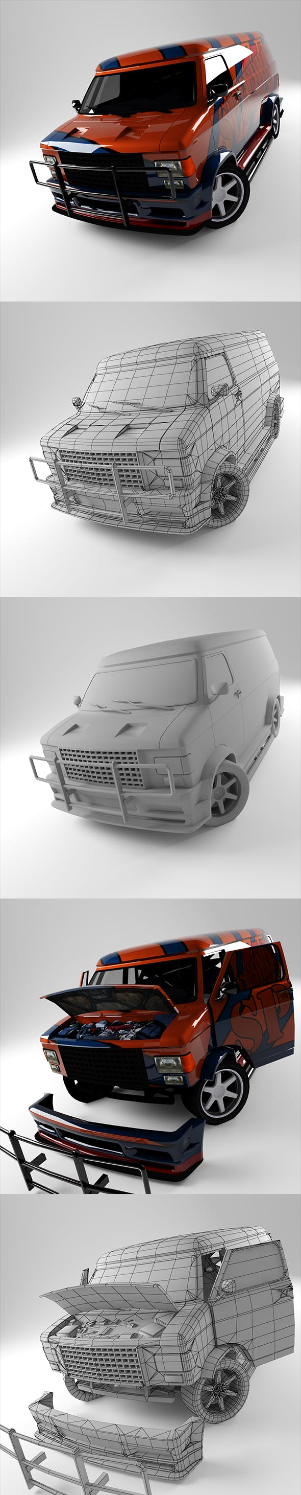 Van GMC - 3DOcean Item for Sale