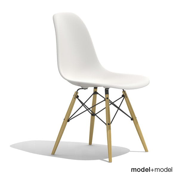 Eames Plastic Side Chair DSW - 3DOcean Item for Sale