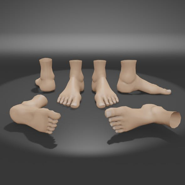 Foot base mesh - 3DOcean Item for Sale