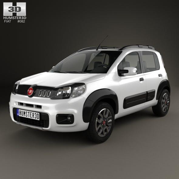 Fiat Uno Way 2015 - 3DOcean Item for Sale