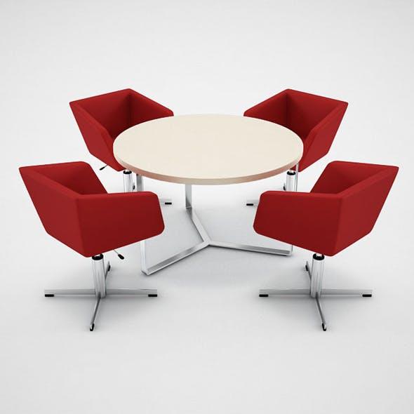 Narbutas Meg Chair Plana Table - 3DOcean Item for Sale