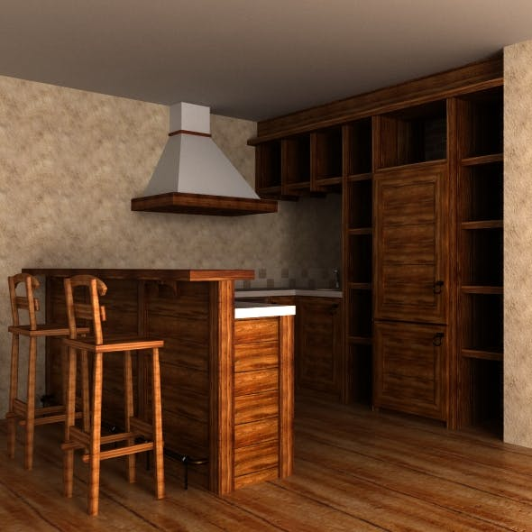 Country cusine (kitchen furniture) - 3DOcean Item for Sale
