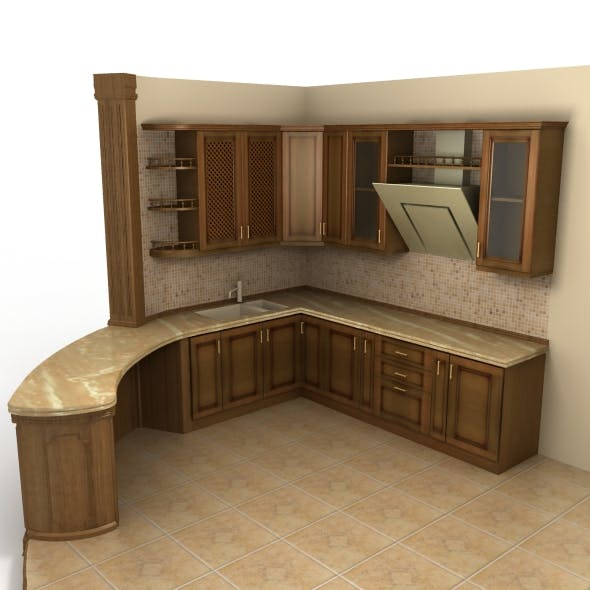 Neo classic cusine (kitchen furniture) - 3DOcean Item for Sale
