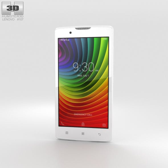 Lenovo A2010 Pearl White - 3DOcean Item for Sale