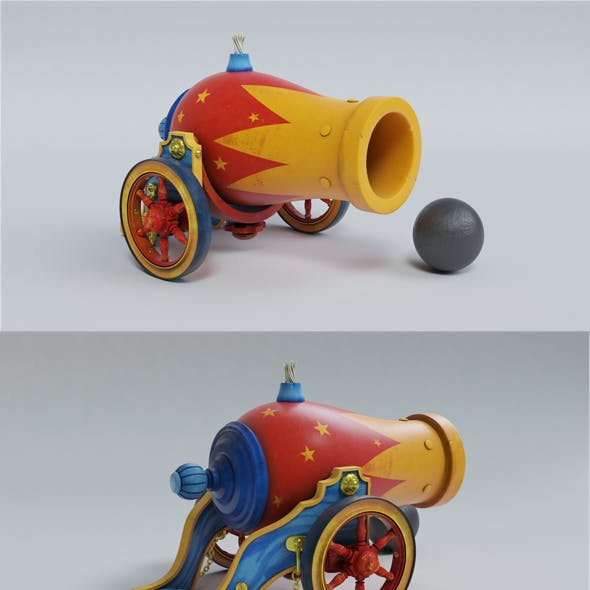 Vintage Circus Cannon