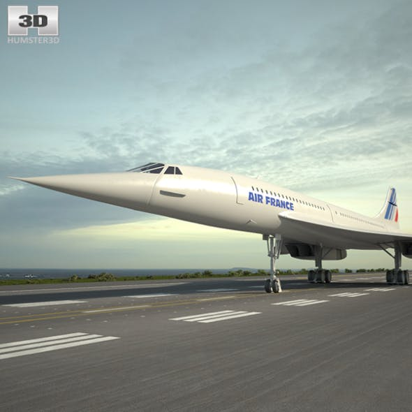 Aerospatiale-BAC Concorde - 3DOcean Item for Sale