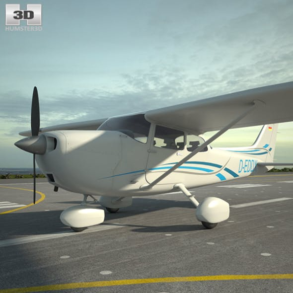 Cessna 172 Skyhawk - 3DOcean Item for Sale