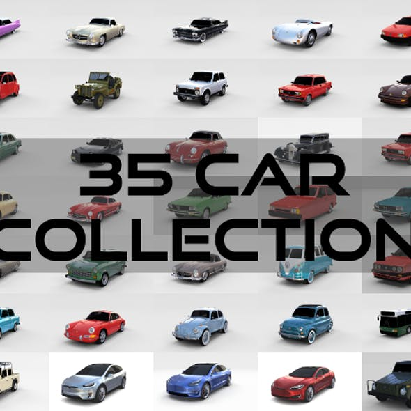 35 Car High Detail Collection
