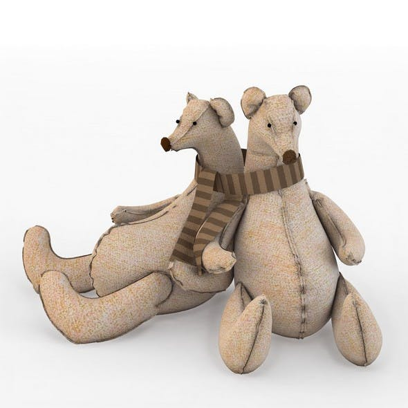 Toy bears textile bears family
