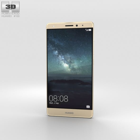 Huawei Mate S Luxurious Gold - 3DOcean Item for Sale