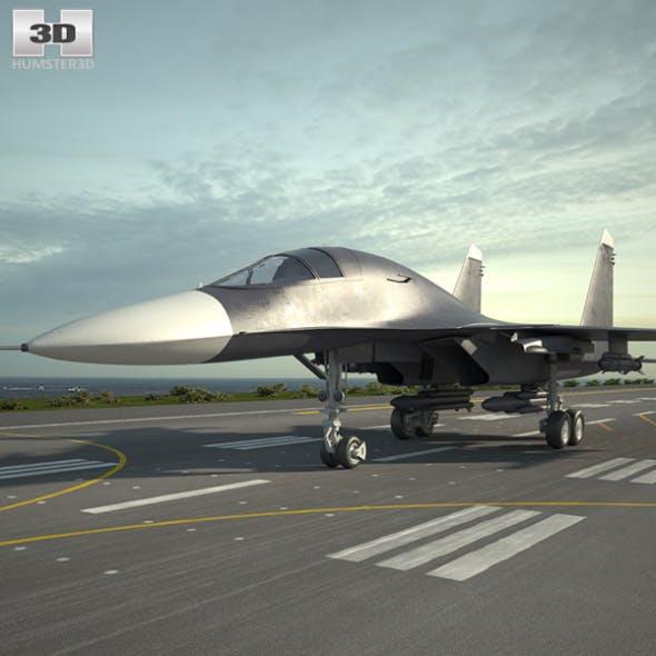 Sukhoi Su-34 - 3DOcean Item for Sale