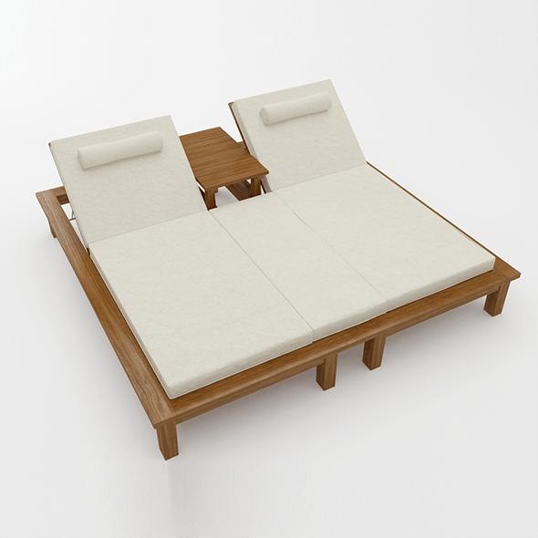 Sunbed - 3DOcean Item for Sale