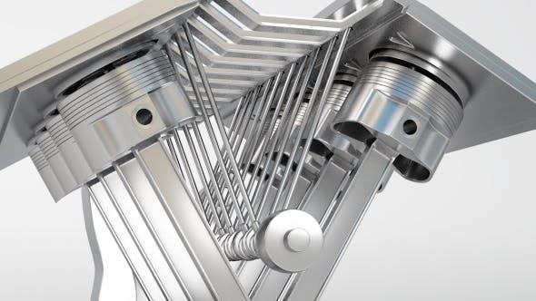 Engine Piston Set - 3DOcean Item for Sale