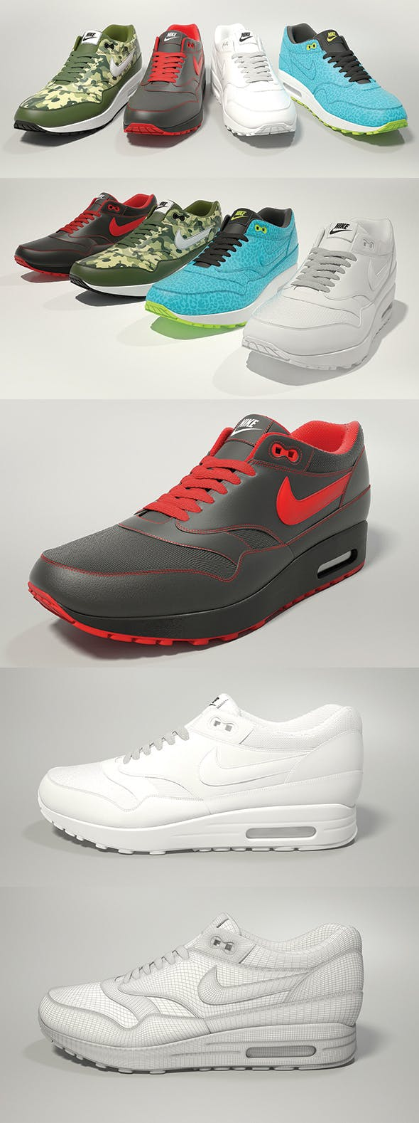 finest selection a20d9 008b7 Nike Air Max 1 3D model - 3DOcean Item for Sale
