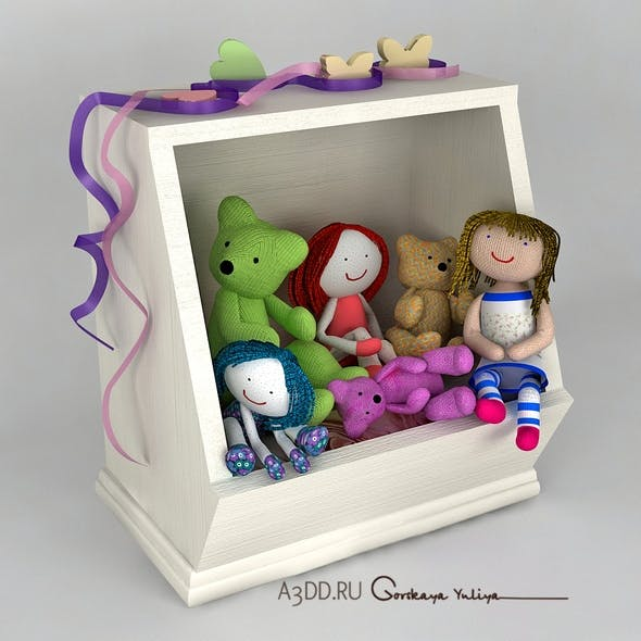 Box for toys. Toys in a Box - 3DOcean Item for Sale