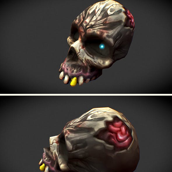 low_poly_skull