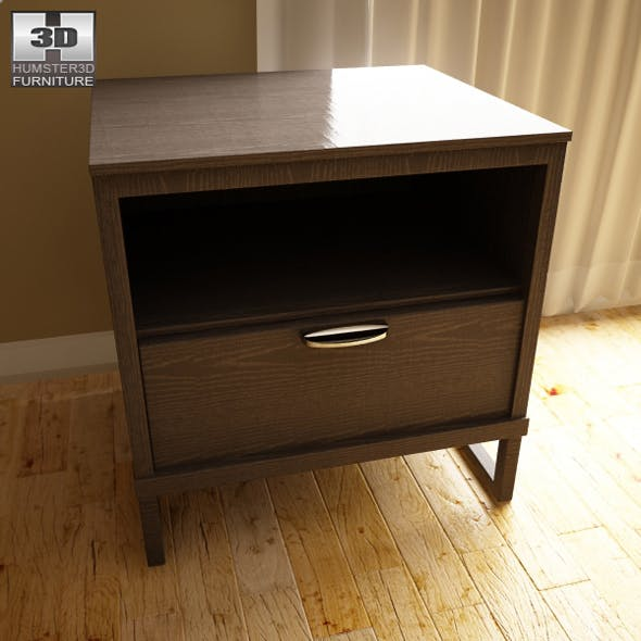 Ashley Sonya Drawer Night Stand - 3D model.  - 3DOcean Item for Sale